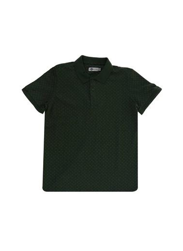 Lee Cooper Lee Cooper 242048 Nature Koyu Yeşil Nokta Desenli Erkek Polo T-Shirt Yeşil